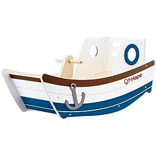 Hape E0102 Rocking Boat Toy (Multi-Colour) Holzspielzeug