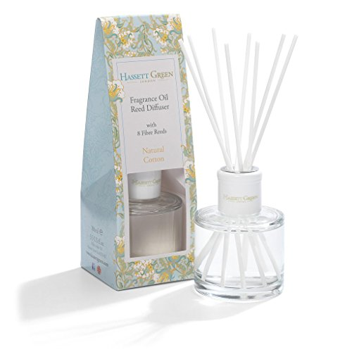 82ba47a677 Hassett Green Natural Cotton Oil Reed Diffuser Floral Fragrance of Rose  Jasmine and Gardenia In A