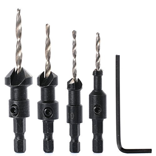 xcsource-new-4pcs-hex-countersink-drill-bits-set-quick-change-wood-drilling-bi045