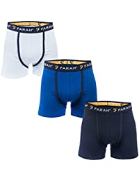 Farah Mens Champlain 3 Pack Boxer Shorts Blue Navy One Navy, One Blue, One Light