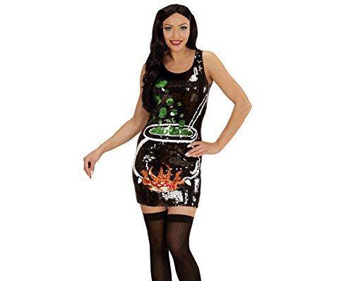 chsenenkostüm Hexe, Paillettenkleid, Größe S (Feuer Frau Halloween Kostüm)