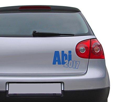 Autoaufkleber Abi 2017 B x H: 30cm x 20cm Farbe: königsblau von Klebefieber®