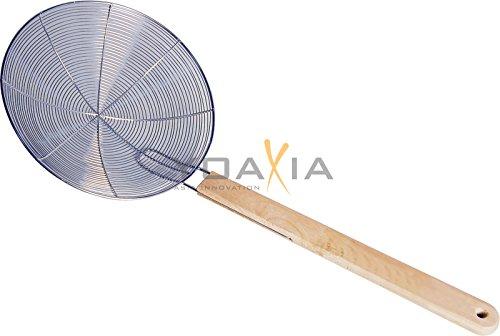 Metallsieb mit Holzgriff Ø 30cm Wok-Sieb Abtropfsieb Seiher Durchschlag Rundsieb - Wok-sieb