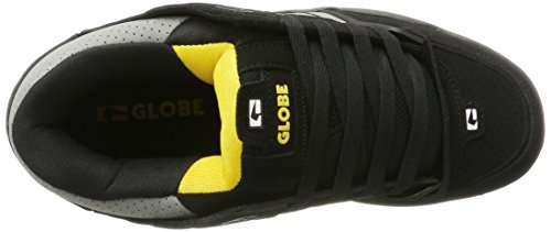Globe - Fusion, Pantofole Uomo Nero (Black/grey/yellow)