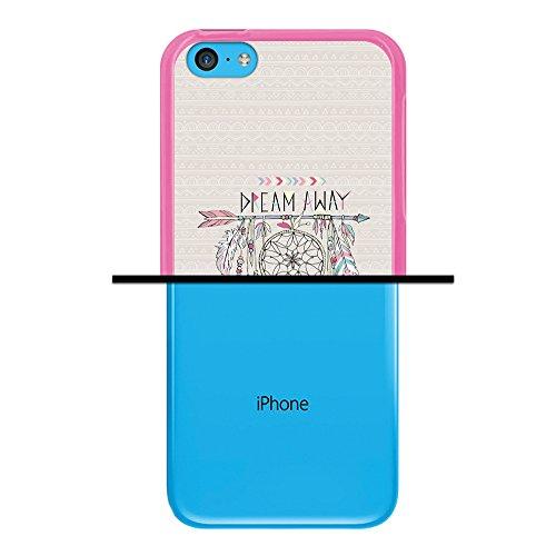 iPhone 5C Hülle, WoowCase Handyhülle Silikon für [ iPhone 5C ] Hund Fußabdruck Handytasche Handy Cover Case Schutzhülle Flexible TPU - Transparent Housse Gel iPhone 5C Rosa D0253