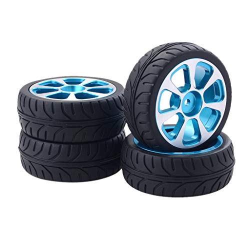 Bescita6 1:10 Aluminium Legierung Räder mit Reifen für HPI Rote Katze Auf der Straße Rennen Auto Flaches Straßenauto Treiben Rad Automodell 4PCS