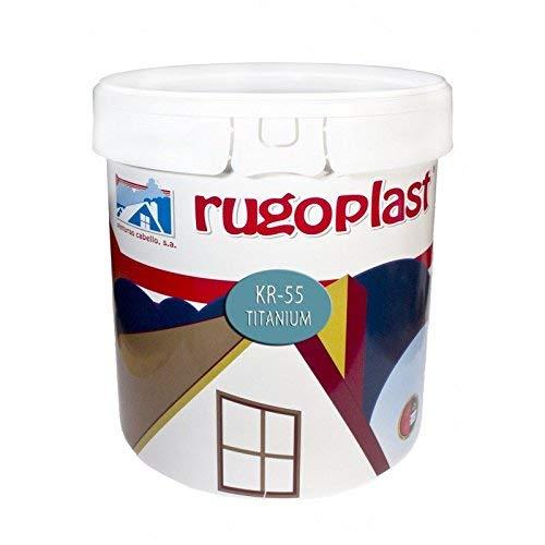 Rugoplast - Pintura plástica blanca mate super sedosa de máxima calidad interior / exterior ideal para decorar tu casa ( salón, cocina, baño, dormitorios... ) KR-55 Titanium, Blanco