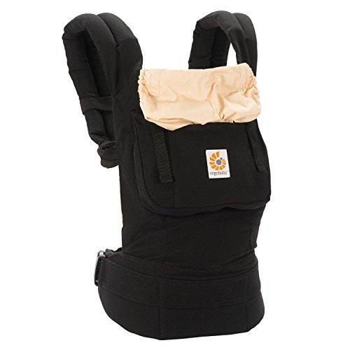 Ergobaby Babytrage Kollektion Original (5,5 - 20 kg), Schwarz/Camel