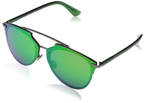 Dior Damen DIORREFLECTEDP RU S6I Sonnenbrille, Grün (Dkruth Green Marl), 63