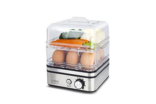 Caso 2772  ED10 Eierkocher und Dampfgarer für schonende Zubereitung, elektronische Garzeitregelung,...