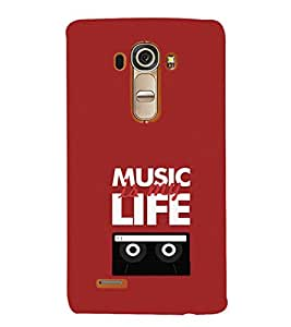 EPICCASE Music is my life Mobile Back Case Cover For LG G4 (Designer Case)