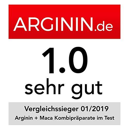 VERGLEICHSSIEGER 2019 bei ARGININ.DE: L-Arginin Base plus Citrullin (entspr. 2.400mg Arginin HCL) plus Maca Extrakt 680mg (entspr. 34.gr Maca Pulver) HOCHDOSIERT & Cordyceps sinensis – zest'active - 4