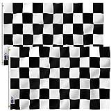Anley? Fly Breeze Flagge, 90 x 152 cm, kariert, lebendige Farben, UV-beständig, Leinen-Kopfband und doppelt genäht, Polyester mit Messingösen 90 x 152 cm, 2 Stück