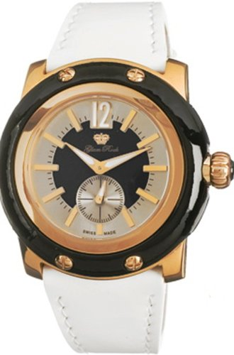Glam Rock Watch GR10017 - Reloj de Mujer de Cuarzo, Correa de Piel Color Blanco