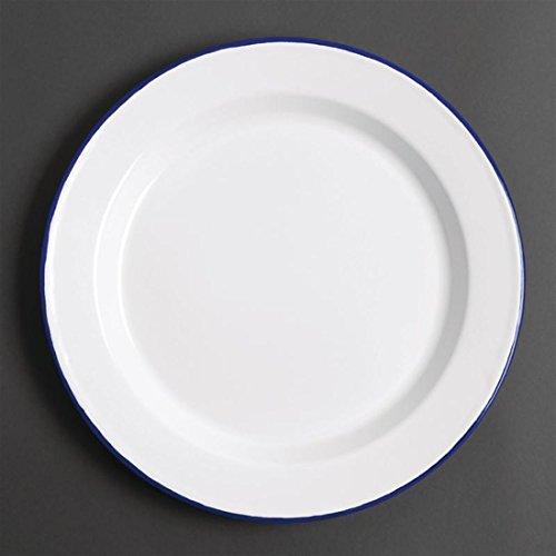6x Olympia esmalte placa cena 245mm servicio comedor