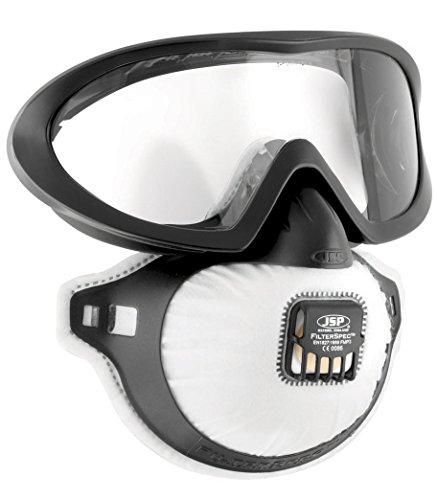 JSP AGE130-201-100 FilterSpec Pro Atemmaske, schwarz mit FMP3-Ventilfilter -