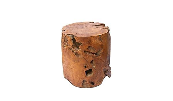 Fahome teak tavolino rotondo 40 cm rotondo sgabello pianta
