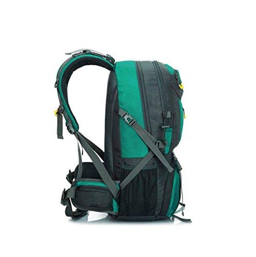 Grande Capacità Di Arrampicata All'aperto Borsa Zaino Pacchetto Campeggio Trekking 21.65 * 11.81 * 7.87 In,Green Blue