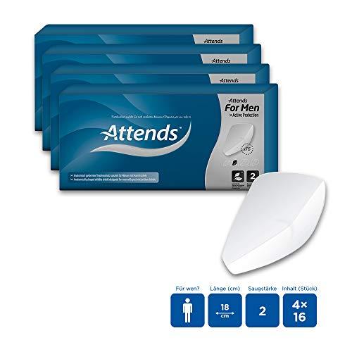 Attends For Men 2, Hygiene-Einlagen für Männer, bei leichter Blasenschwäche, 4x16 St