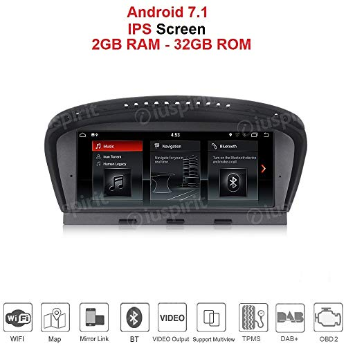 Android 7.1 PX3 2GB RAM 32GB ROM GPS USB SD WI-FI DAB+ OBD2 TMPS Bluetooth Navigationssystem kompatibel mit BMW Serie 5 E60 E61 E63 E64 2009-2010 BMW 3er E90 E91 E92 2009-2012 Original CIC System