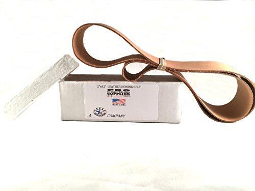 "2""x42"" (5cm x 107cm) Leather Strop Honing Belt Polishing"