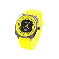Sbao Homme - Montre Homme Silicone Couleur Jaune SBAO 420