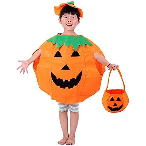 Auspicious Beginning® Spettacoli vestito partito di fantasia di Halloween vestito zucca con un sacchetto di caramelle per i bambini