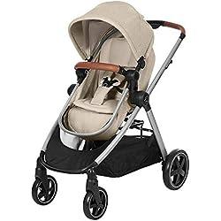 Bébé Confort ZELIA 'Nomad Sand' - Cochecito urbano 2 en 1, diseño compacto, sistema plegable, para bebes de 0 meses hasta 3,5 años, color beige