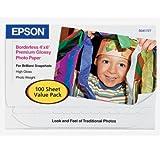 Epson Premium Glossy Photo Paper, 4X6 100