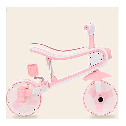 ZXDBK Balance Fahrrad, Fahrradspielzeug für KinderFahrrad ohne Pedale Kinder Roller Outdoor Indoor Drive Lernspielzeug für 12 Monate bis 3 Jahre,Pink - Drive Sicherheit-roller