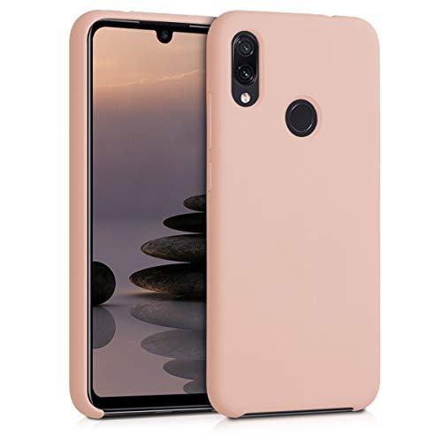 kwmobile Funda para Xiaomi Redmi Note 7 / Note 7 Pro - Carcasa de TPU para teléfono móvil - Cover Trasero en Rosa Palo Mate
