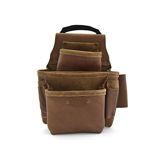 Style n Craft 98-436, 8 Pocket Top Grain Nail and Tool Bag by Style N Craft (Pocket 8 Top Grain)