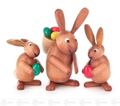 sentrio mit Eiern, braun gebeizt - Osterdeko - Osterhase - Osterfigur - Holzfigur - Handarbeit aus dem Erzgebirge - NEU ()