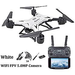 gaeruite KY601S Drone con batería incorporada, Plegable Foto aérea Drone Altitude Hold avión de Cuatro Ejes WiFi transmisión de Imagen Remote Control Aircraft,RC cuadricóptero Drone