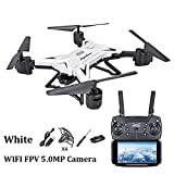 Waroomss Drohne mit Kamera, WiFi 1080P HD Kamera Live Video und GPS Return Home 2,4 GHz 4 CH 4 Achsen Gyro RTF RC Quadcopter-Follow Me, Höhe halten, intelligente Batterie, Lange Steuerdistanz
