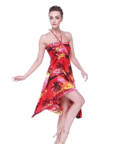 Vestido-de-mariposa-hawaiana-para-mujer-Puesta-de-sol-Rojo-M