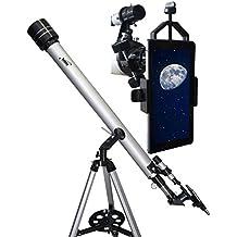 Telescopio refractor Star Commander 900-60 de Seben + smartphone adaptador