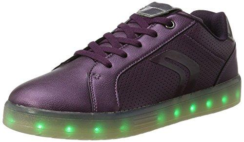 Geox J Kommodor A, Sneakers Basses Mixte Adulte Violet (Prune/dk Silver)