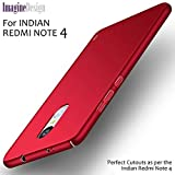 WOW Imagine Sleek Rubberised Matte Hard Case Back Cover For Xiaomi Mi Redmi Note 4 - Maroon Wine Red