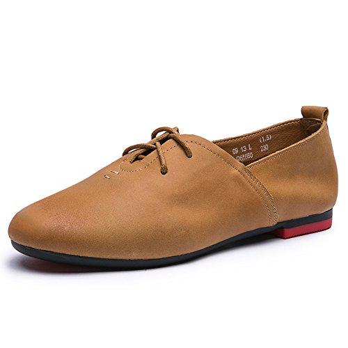 chaussures vintage automne/ dentelles rondes plates/Chaussures pour femmes/Chaussures de fond mou C