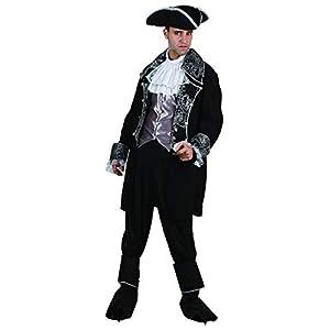Reír Y Confeti - Fibpir027 - Para adultos traje - Deluxe Capitán Pirata Traje - Hombre - Talla L