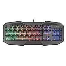 Trust Gaming GXT 830-RW Avonn Gaming Keyboard LED Illuminated, UK Layout - Black