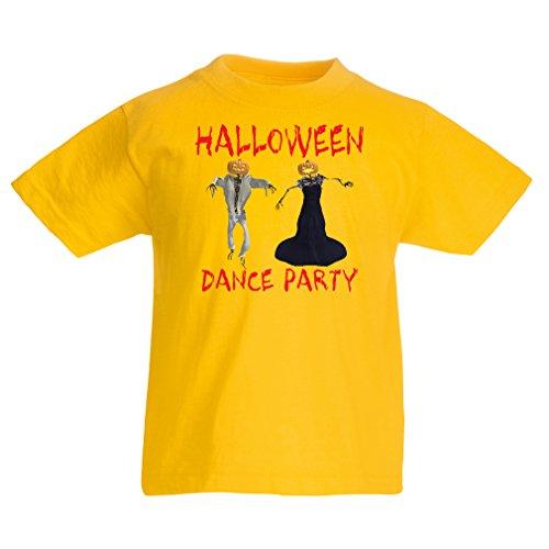 Kinder T-Shirt Coole Outfits Halloween Tanz Party Veranstaltungen Kostümideen (3-4 Years Gelb Mehrfarben)