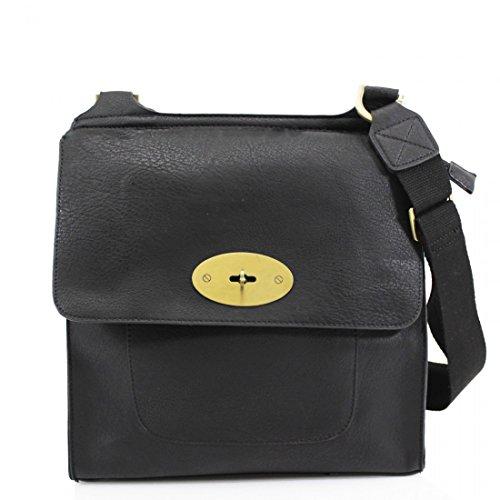 LeahWard® Medium Large Women s Cross Body Flap Handbags High Quality Faux  Leather Shoulder Across Body Bag For Women Girls Mum s Tote Grab Bag  (BLACK) - Buy ... 9c42ed76750a0