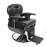 Tuff Concepts Classic Black Salon Styling Hair Beauty Hydraulic Reclinable Barber Chair