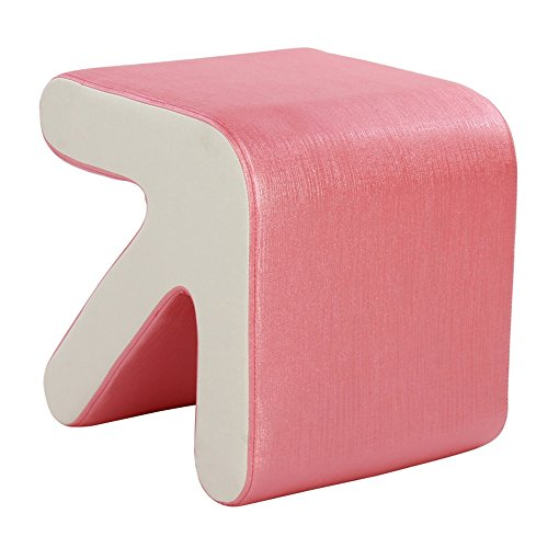 Barhocker XIA Hocker PU Pfeil Kreative Farbe Optional 36 * 40 * 40 cm Bequeme Wechselnde Schuhe Hocker (Farbe : Pink)