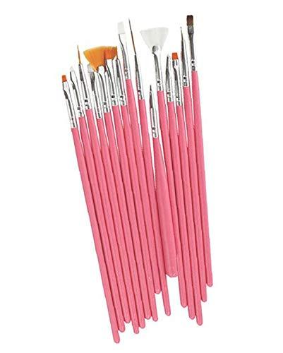 Set mit 15 Pinseln für Nägel, Stifte und Pinsel für Nail Art, einfache Bürsten