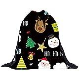 PNING Weihnachten Unisex 3D Digitaldruck Pocket Rucksack Kordelzug Bouquet Tasche Rucksack Kordelzug Schultasche Canvas Rucksack Reise Wandern Outdoorrucksack Daypacks