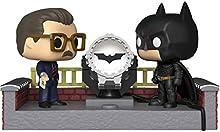 Funko- Pop Figura in Vinile: Movie Moment: Batman 80th-with Light Up Bat Signal w Collezione, Multicolore, 37258