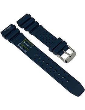 Uhrenarmband Ersatzband Taucherband mit Tabelle XL Kautschuk Band dunkelblau Diver II 27287S, Stegbreite:18mm